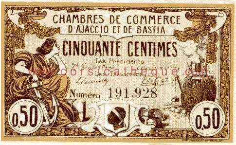 Billet des chambres de commerce d 39 ajaccio et de bastia 50 - Chambre des commerce et de l industrie ...