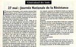 Journée nationale de la Résistance (27 mai)